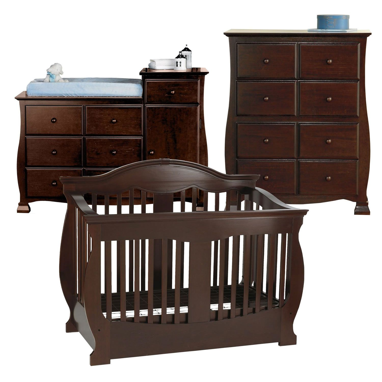 Cheap Baby Furniture Savanna Grayson 3 Pc Baby Furniture Set Espresso