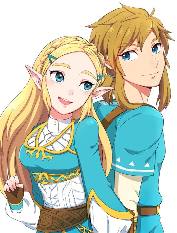 Zelda And Link Breath Of The Wild By Shi Ba Botw Switch