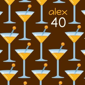 Cocktailparty 40 Geburtstag Einladungskarten Und