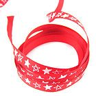 Red with Stars 3/8 inch Grosgrain ribbon