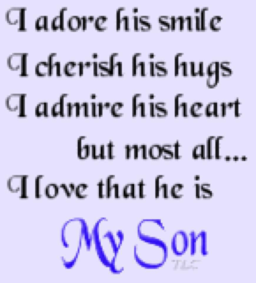 All About My Two Sons Quotations I Love Son Quotes I Love My