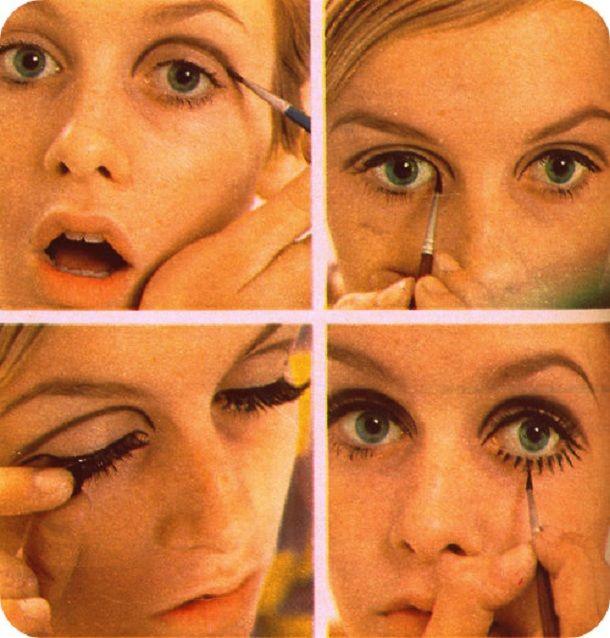How To Twiggy Mod Eye Makeup Estilo Y Make Up Pinterest Make