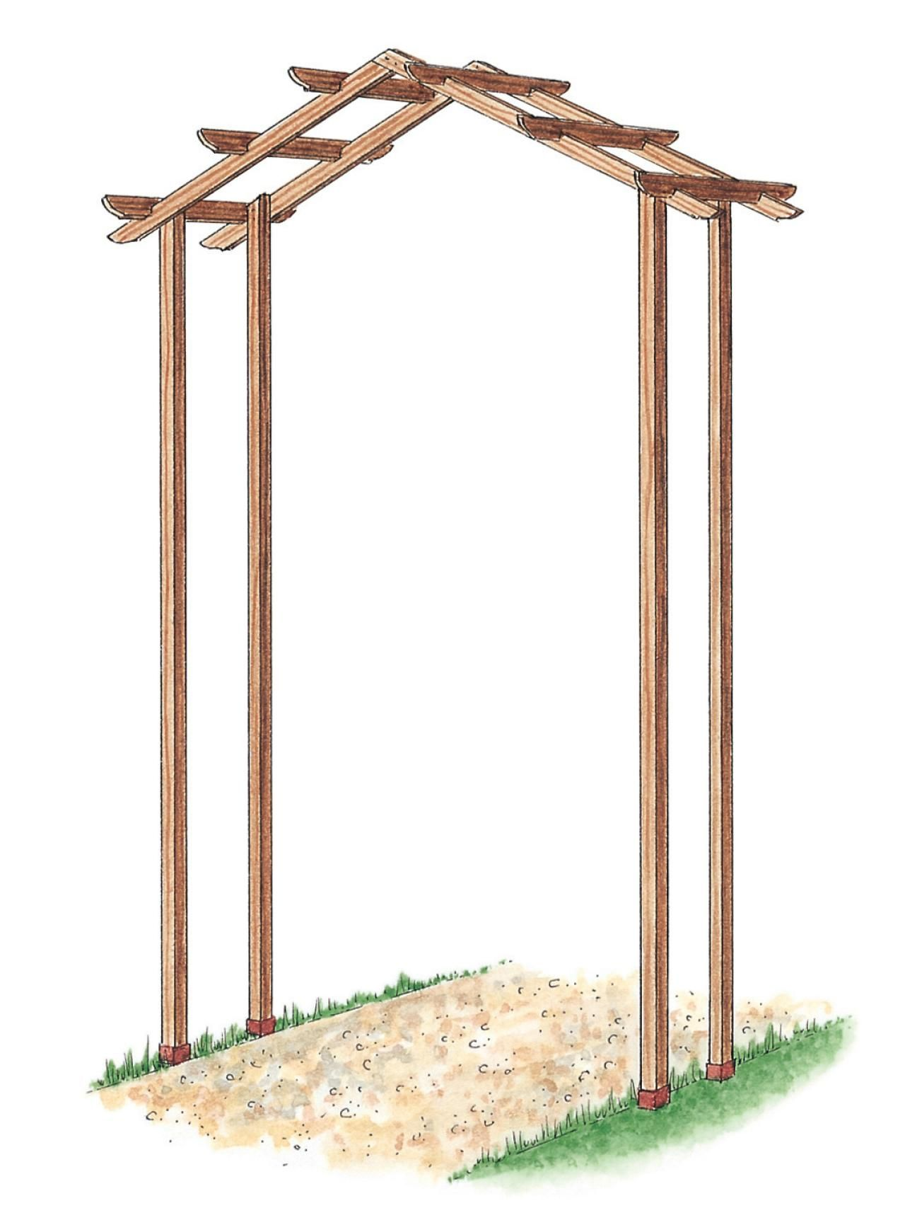 Learn how to build a simple wooden arch kit with this step