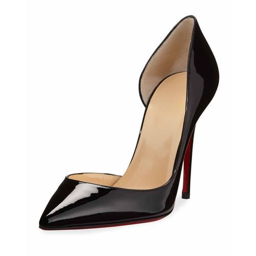 8e6c421376 replica Christian Louboutin Iriza Patent Open-Side Red Sole Pump, Black  3-431 $163,All christian louboutin replica shoes outlet online|all- louboutins.com