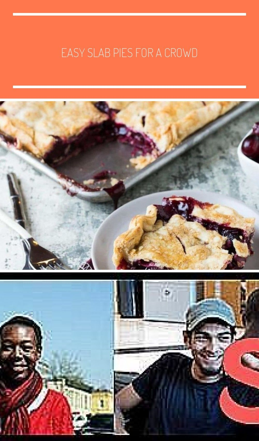 25 Easy Slab Pies For a Crowd: Cranberry Cherry Slab Pie for a crowd sheet pan Easy Slab Pies For a