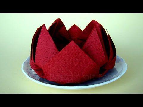 como dobrar guardanapos de papel rosa flor origami. Black Bedroom Furniture Sets. Home Design Ideas