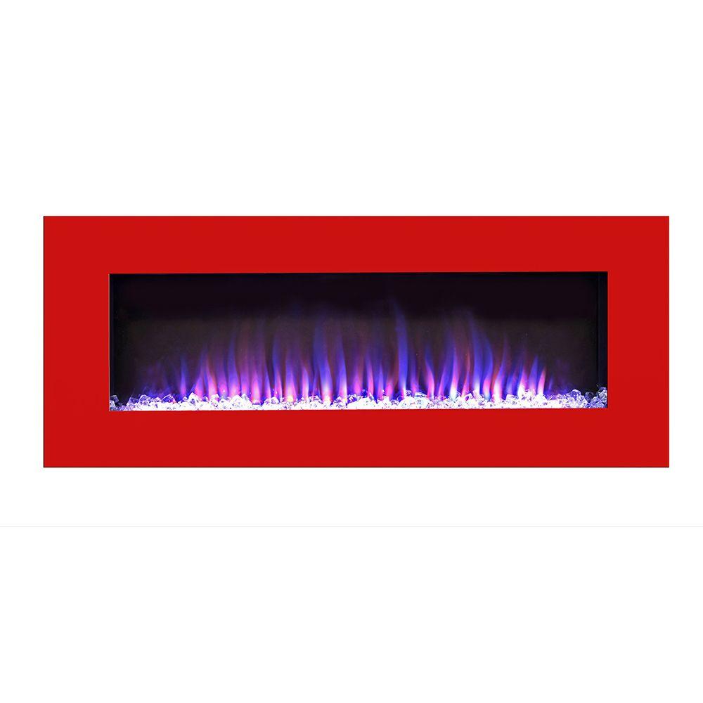 dimplex galveston 74 wall mount electric fireplace at menards rh pinterest com