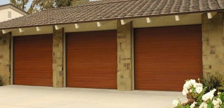 Faux Wood Garage Door Model 9800 Designer Fibergl From Hamilton Parker