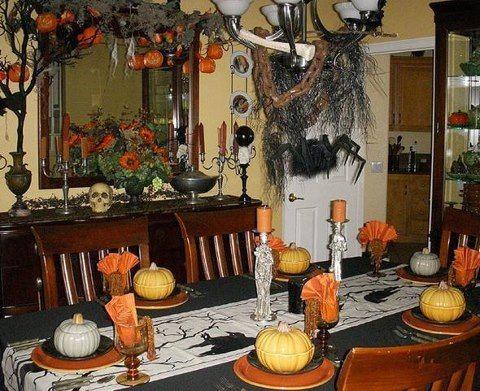 Pin by Sue Lassman on TableScapesTable Settings Pinterest - good halloween decoration ideas