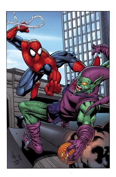 #Spiderman #Fan #Art. (Spidey vs Green Goblin) By: Shugga. (THE  5  STÅR  ÅWARD  OF:  AW YEAH, IT'S MAJOR ÅWESOMENESS!!!™)[THANK Ü 4 PINNING<·><]<©>ÅÅÅ+(OB4E)