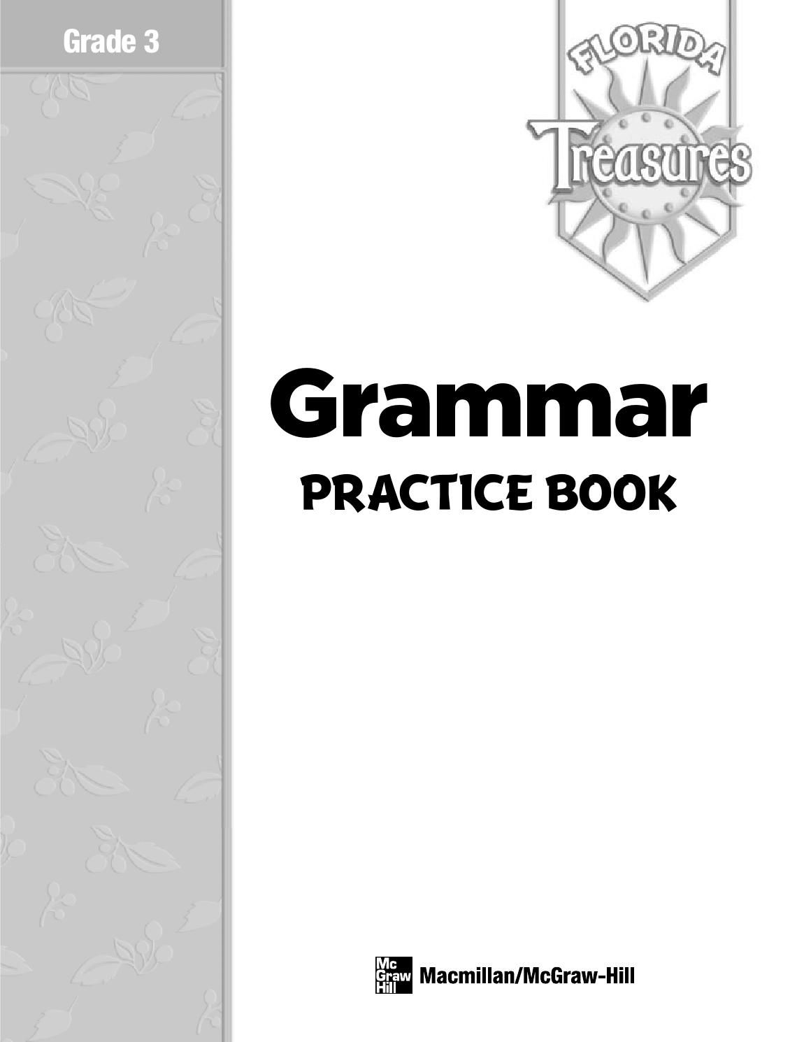 Treasures Mcgraw Hill Gr 3 Grammar Practice Book Grammar
