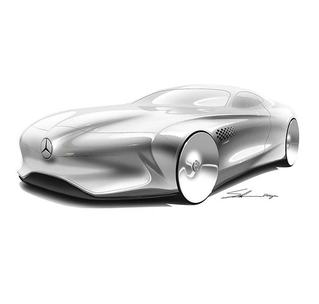 2d sketch which i have done on an electric gt segment with a ...