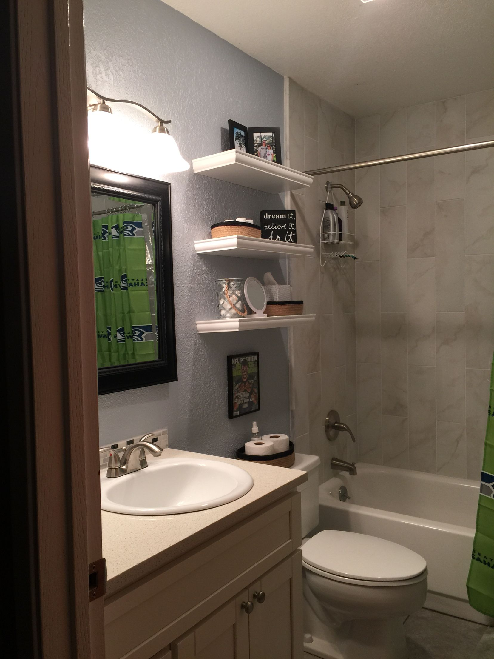 Got some of my ideas from Pinterest, small bathroom ideas ... on Small Space Small Bathroom Ideas Pinterest id=29612
