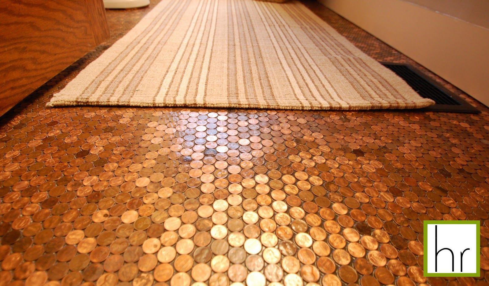 Penny floor tutorial cool crafts pinterest tutorials for Floor of pennies