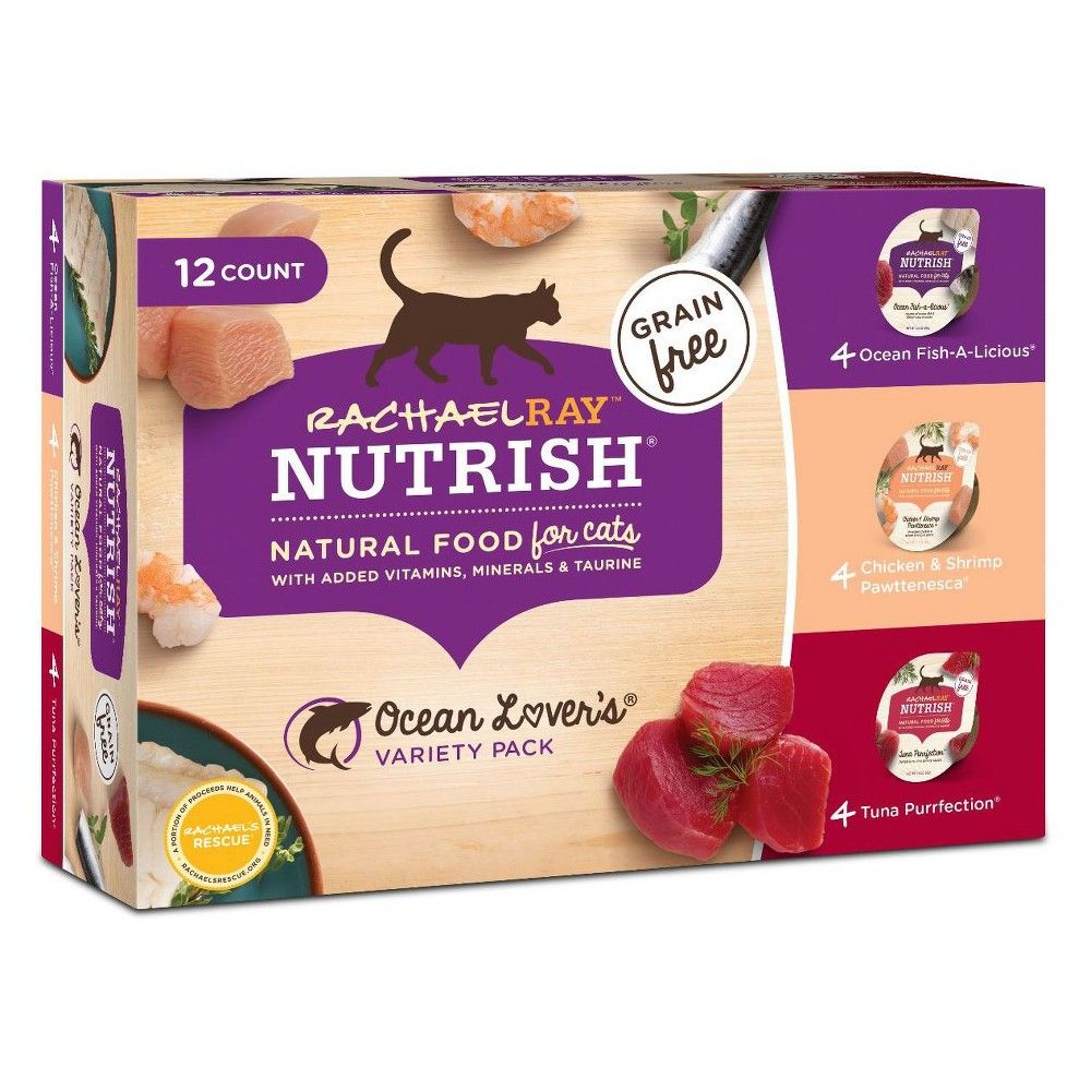 Rachael Ray Nutrish Natural Purrfect Entrees Variety Pack Wet Cat