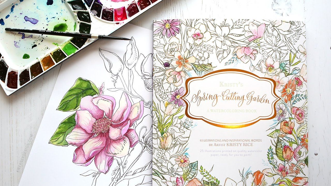 New Painterly Days Watercolor Coloring Book Giveaway