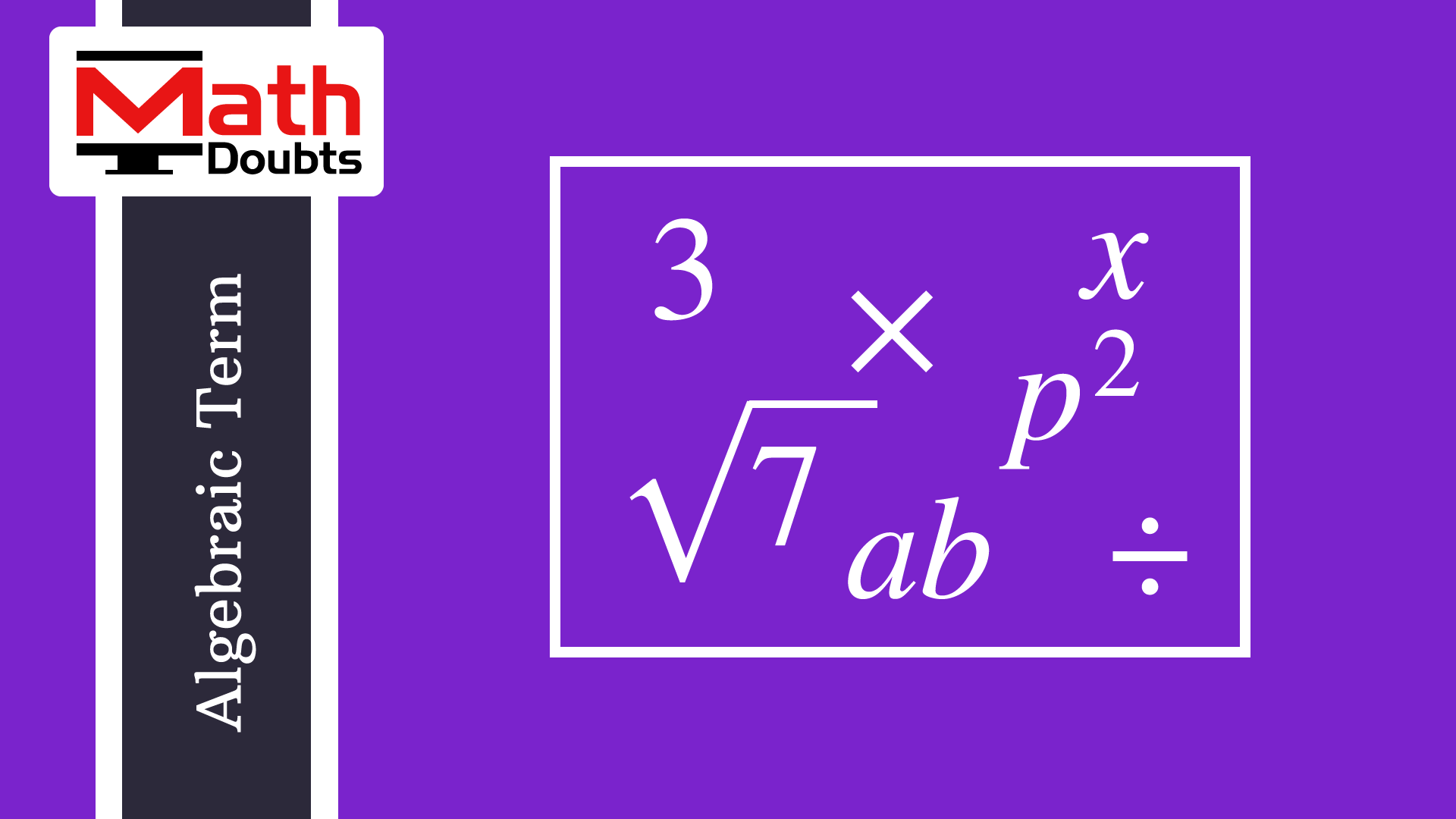 Concept of algebraic terms and understand how to form algebraic concept of algebraic terms and understand how to form algebraic terms in algebra to represent quantities biocorpaavc Choice Image