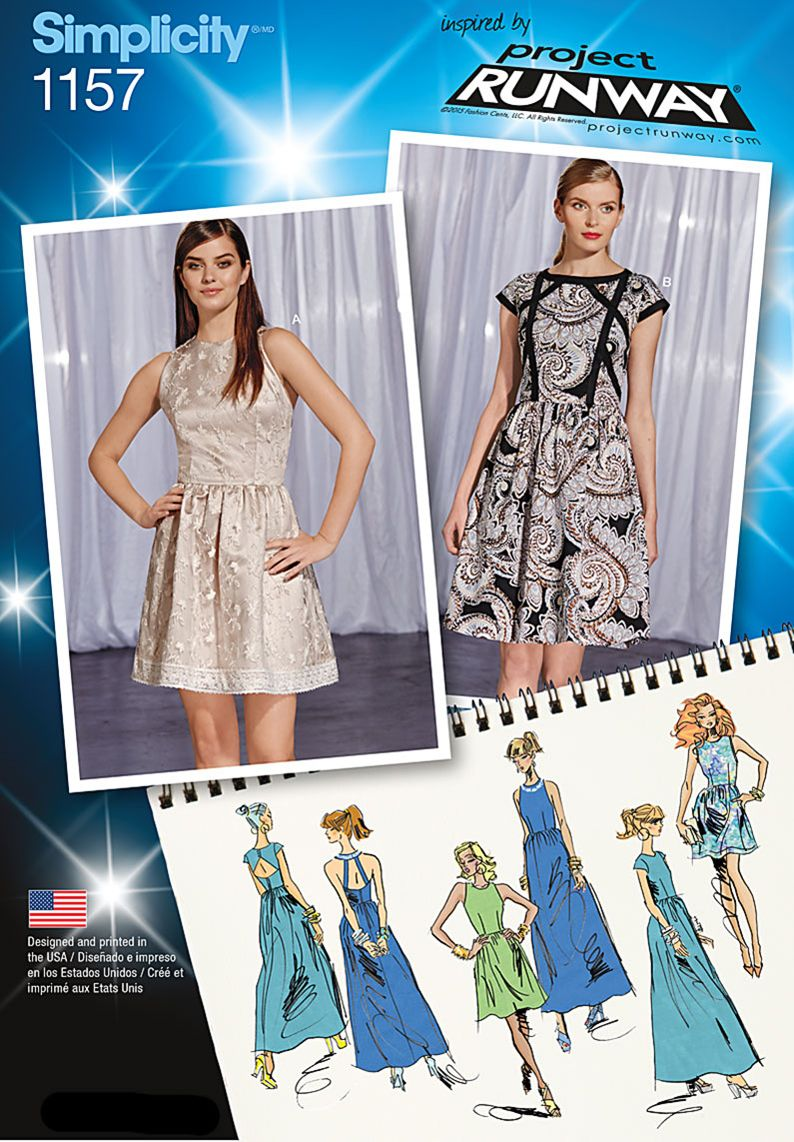 Be your own designer with this Inspired by Project Runway pattern featuring two bodice styles, each with back interest, three lengths and trim options so you can create a dress that is truly you.