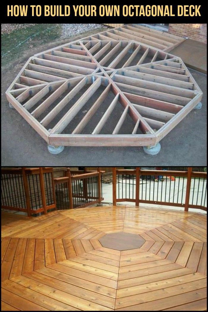 Relax And Enjoy The Outdoor By Building This Octagonal Deck Building A Deck Deck Building Cost Patio Design
