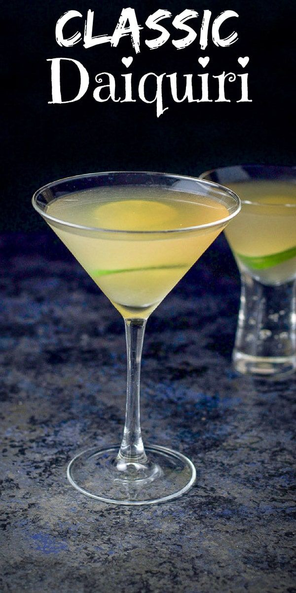 Classic Daiquiri Cocktail #cocktaildrinks