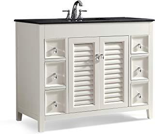Amazon Com 42 Inch Bathroom Vanity With Top Tools Home Improvement Single Bathroom Vanity 42 Inch Bathroom Vanity Granite Vanity Tops