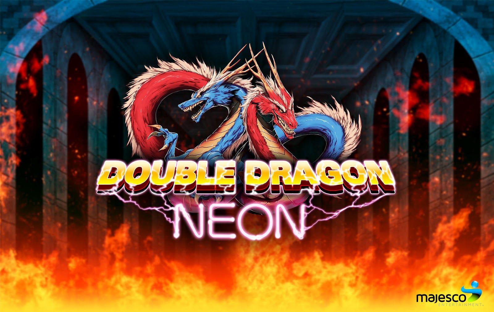 Double Dragon Neon Wallpaper Google Search Neon Neon Wallpaper Dragon