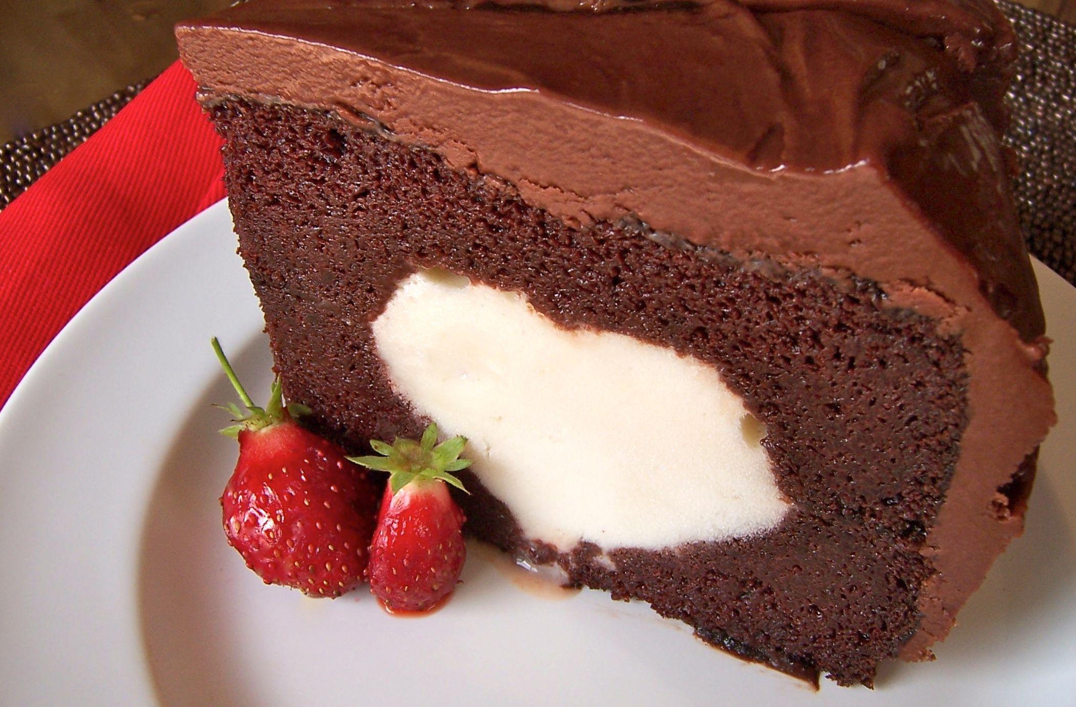 Gluten free and allergen free chocolate ice cream cake