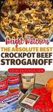 Das absolut beste Crockpot Beef Stroganoff Rezept - #stroganoffrezepte