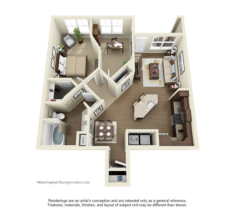 The Milner At 986 Square Feet Home Building Design Sims House Design House Floor Plans