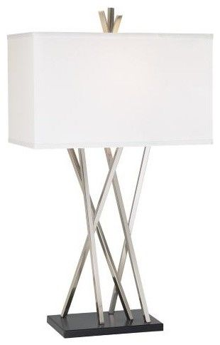 Possini Euro Design Asymmetry Table Lamp contemporary table lamps