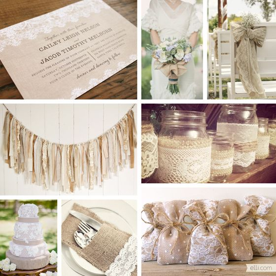 Southern Blue Celebrations Burlap And Lace Wedding Decor Ideas