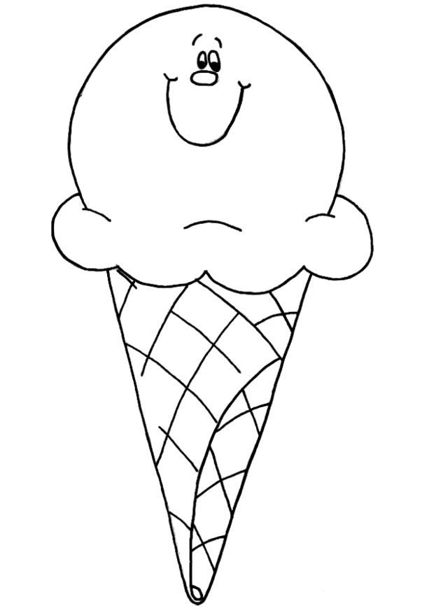 Smile Ice Cream Coloring Pages Ice Cream Coloring Pages