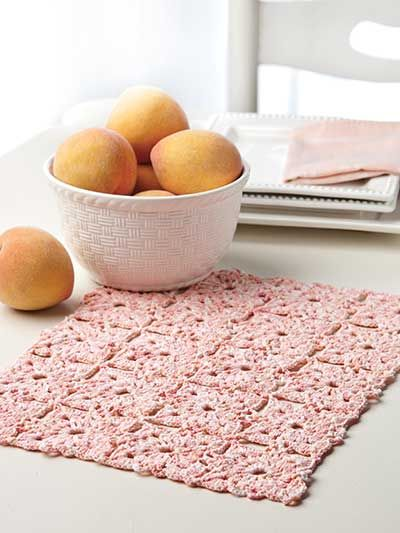 Crochet For The Home Crochet Placemat Patterns Peaches Cream
