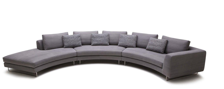 Modern Rounded Fabric Sectional Sofa | VGKK2395 | VIG Furniture