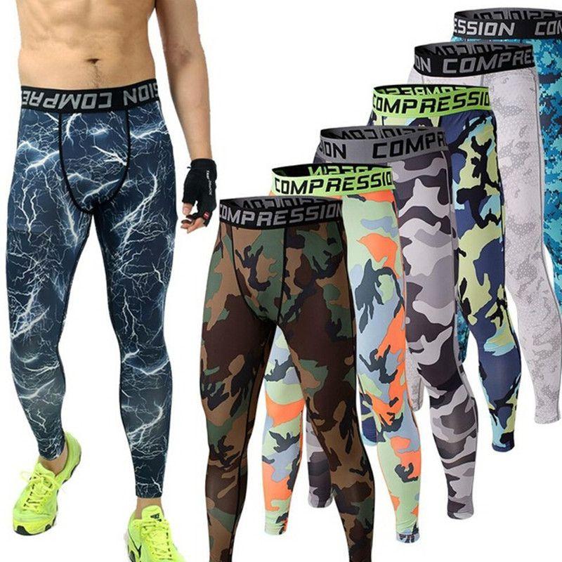 3f773f6e2f Mens Joggers 2016 GIMNASIO Pantalones De Compresión Mallas Hombres  Camuflaje Deporte Crossfit Entrenamiento Leggings Pantalones en Pantalones  casuales de ...