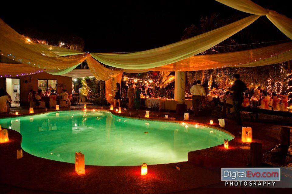 Decoracion de piscina boda noche!! | fotos boda | Pinterest ...