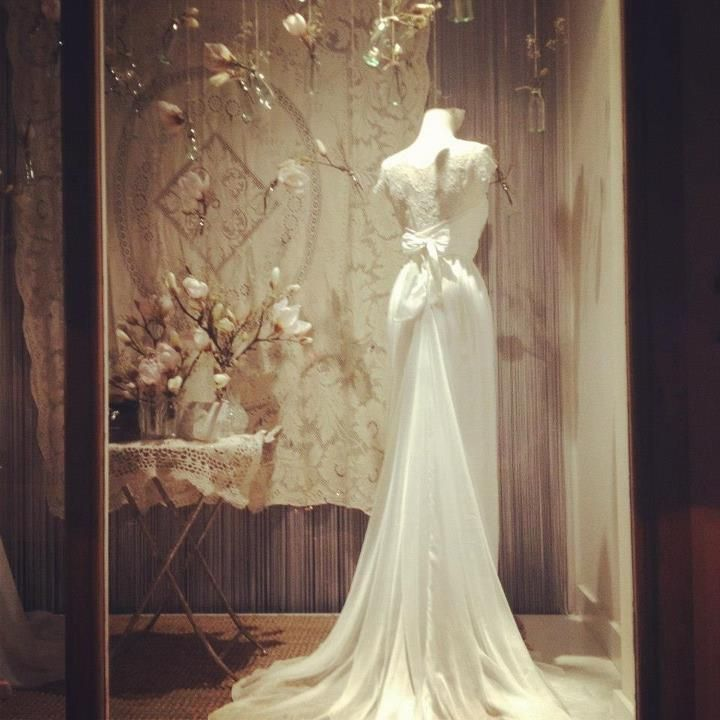 Wedding Gown Display: Stephanie Made To Measure Bridal Dress In Our Spring