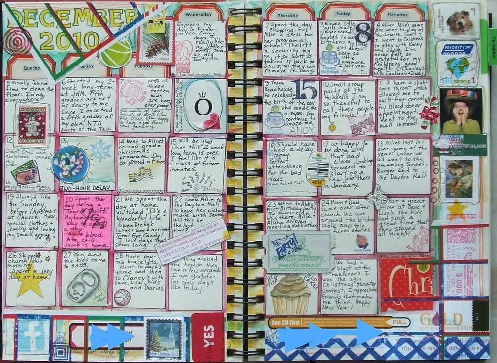 calendar journal- fun idea... maybe I could actually keep up with something like this.
