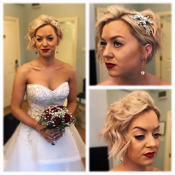 40+ Wedding Hairstyles for Short Hair #shortbridalhairstyles