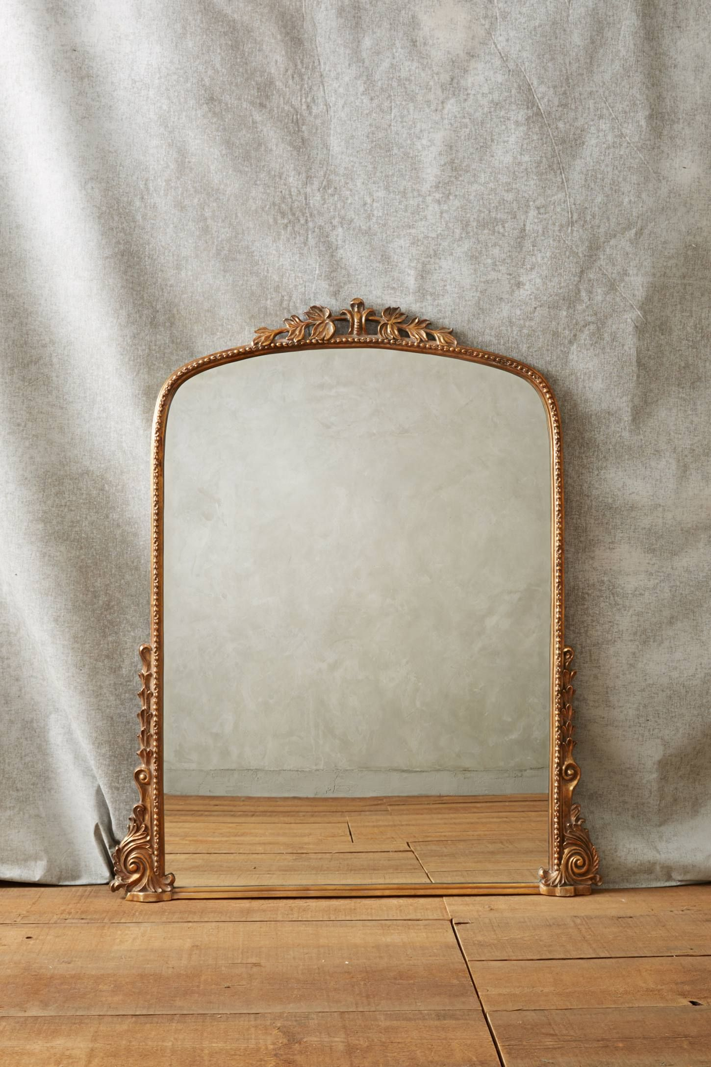 Gold mirror for above fireplace mantel gleaming primrose mirror