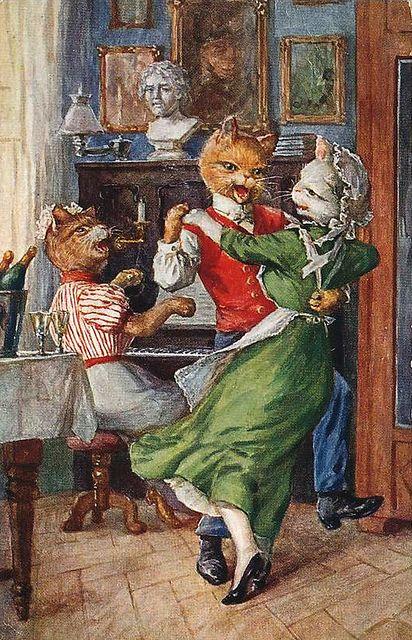 Vintage Cats  (Artist: ?)