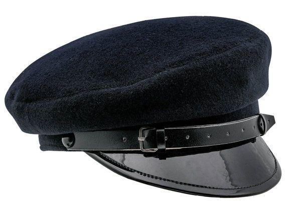 Gorra Militar de Faena de Lana con Visera Lacada azul marino ... 969eadadcdc