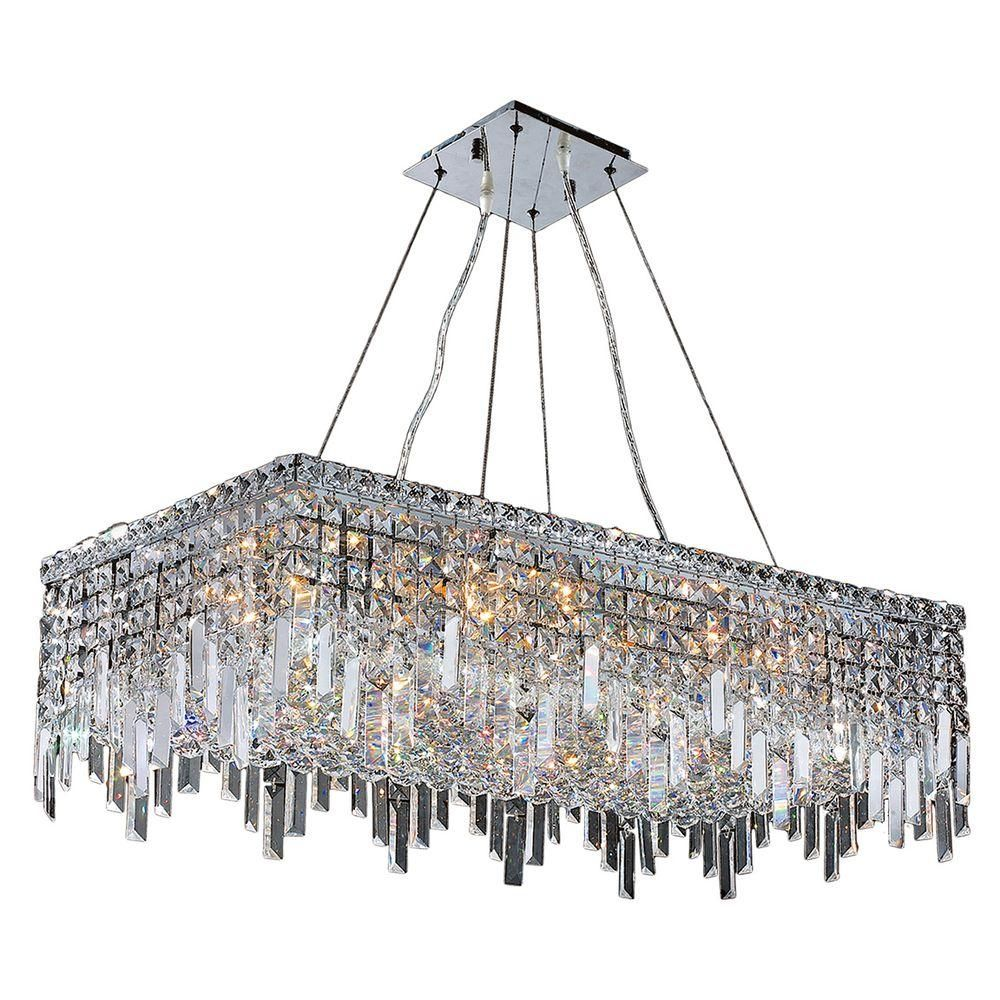 Worldwide lighting cascade collection light crystal and chrome