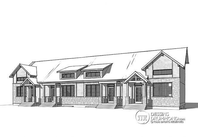 plan de maison quadruplex