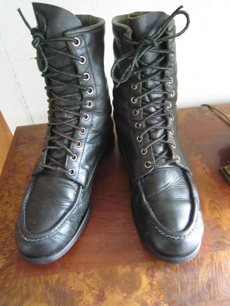 Rare !! Vintage BROWNING SPORTSMAN'S Leather Sport/Hunting Boots - sz Men's 8.5D