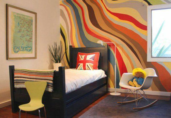 Wandgestaltung Mit Farbe Wände Gestalten Grün Chevron