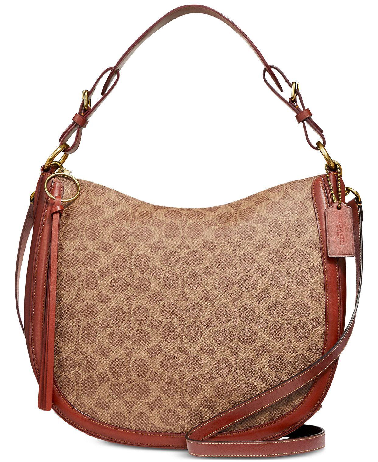 Coated Canvas Signature Sutton Hobo In 2020 Handbag Outfit Discount Authentic Designer Handbags Hobo
