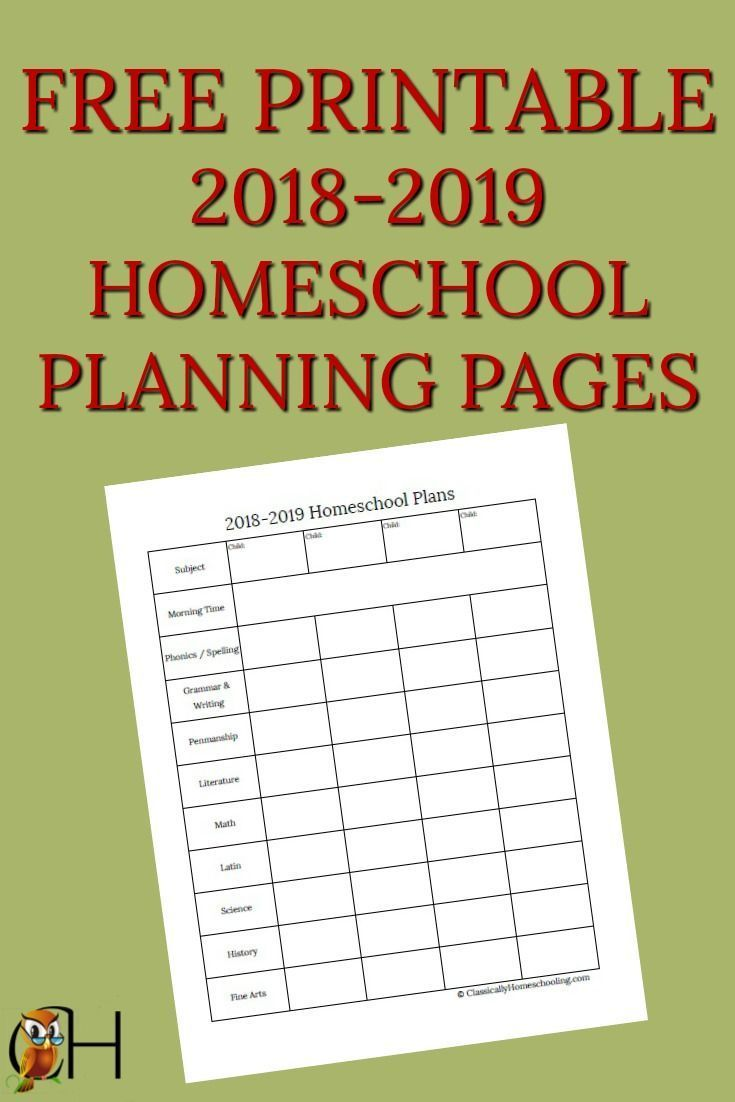 How to Use These Free Homeschool Planning Pages School