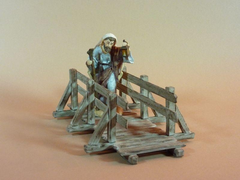 Holzbrücke, gebeizt, Krippenzubehör von krippenmanufaktur auf DaWanda.com