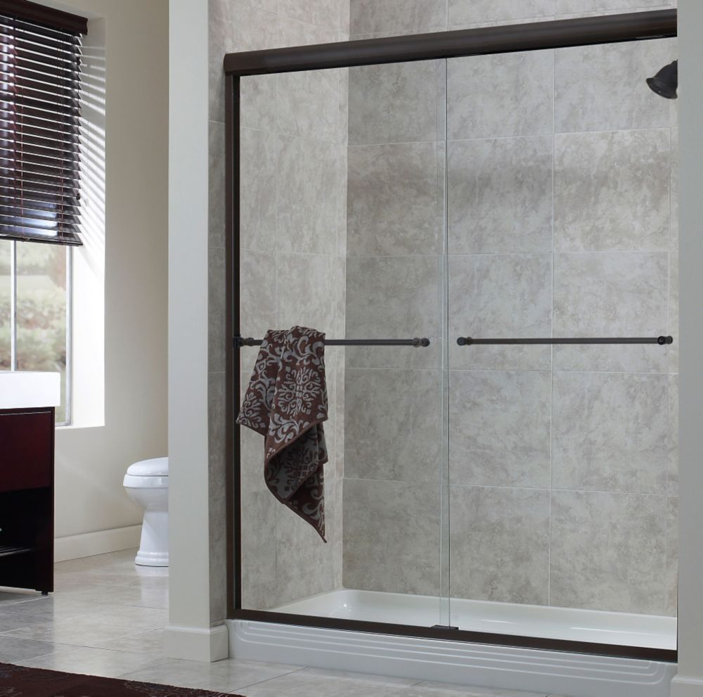 Cove 56 Inch to 60 Inch x 72 Inch H. Frameless Sliding Shower Door ...